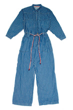 Load image into Gallery viewer, Mechano Oversized Jumpsuit Pinstripes Indigo Denim