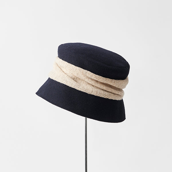 Melton Drape Hat Short