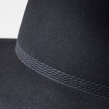 Load image into Gallery viewer, Rope Tracks Hat w Middle Brim in Black by Mature Ha