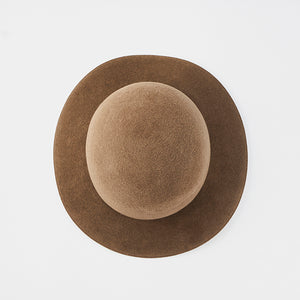 Rope Tracks Hat Rabbit Fur Velour