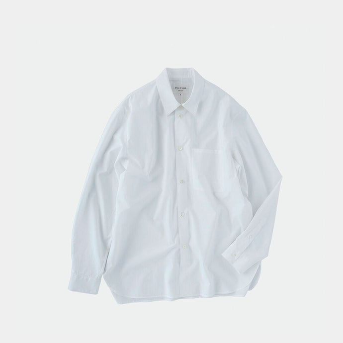 Woven Shirt with Pocket in White by Still By Hand