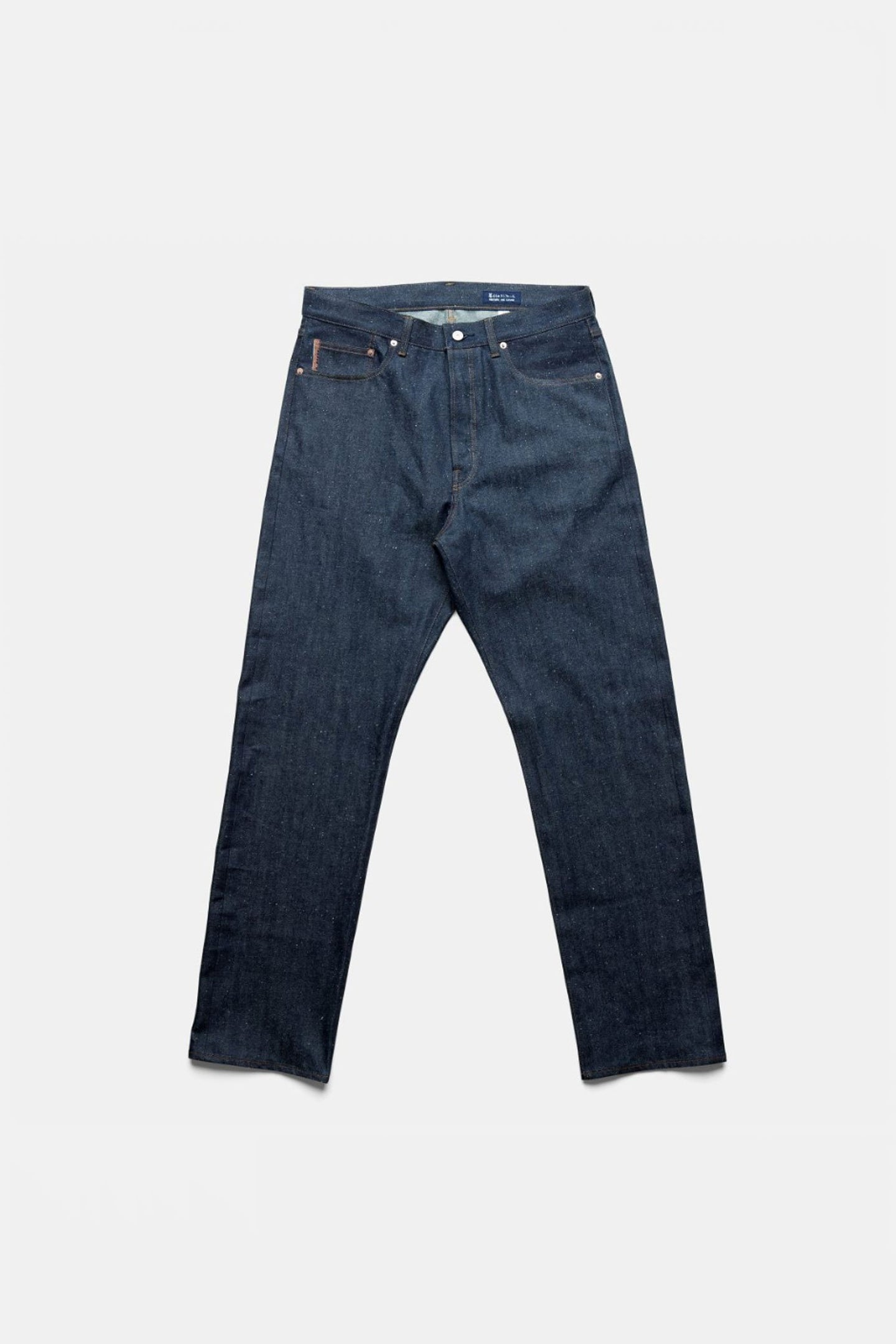 Straight Denim Pants in Washed Indigo by Cottle