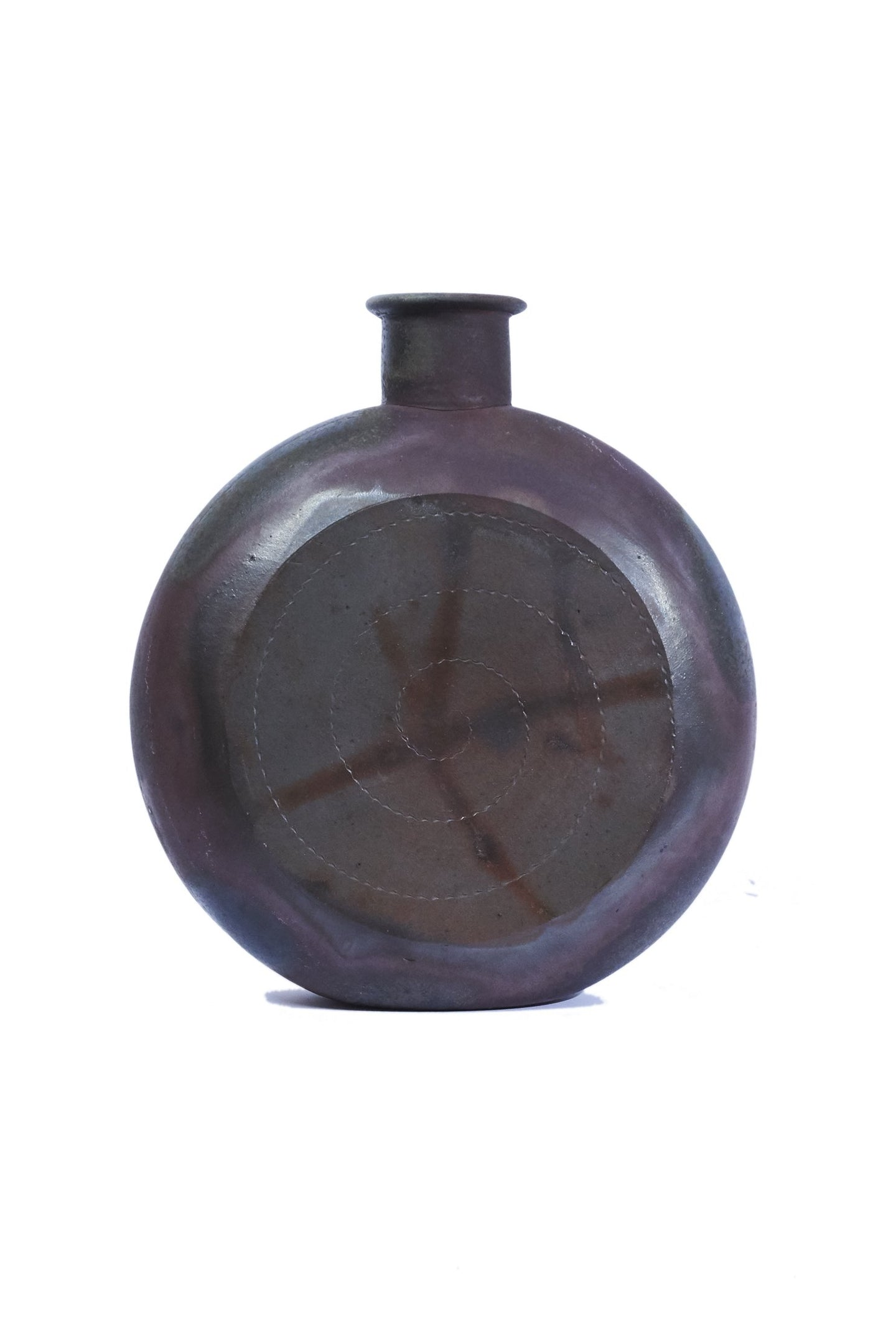 Wood Kiln Pilgrim Flask by Samuel Johnson