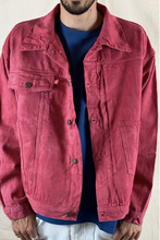 Load image into Gallery viewer, Oversized Denim Jacket Strawberry