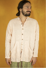 Load image into Gallery viewer, Loose Linen Pockets Shirt Lychee