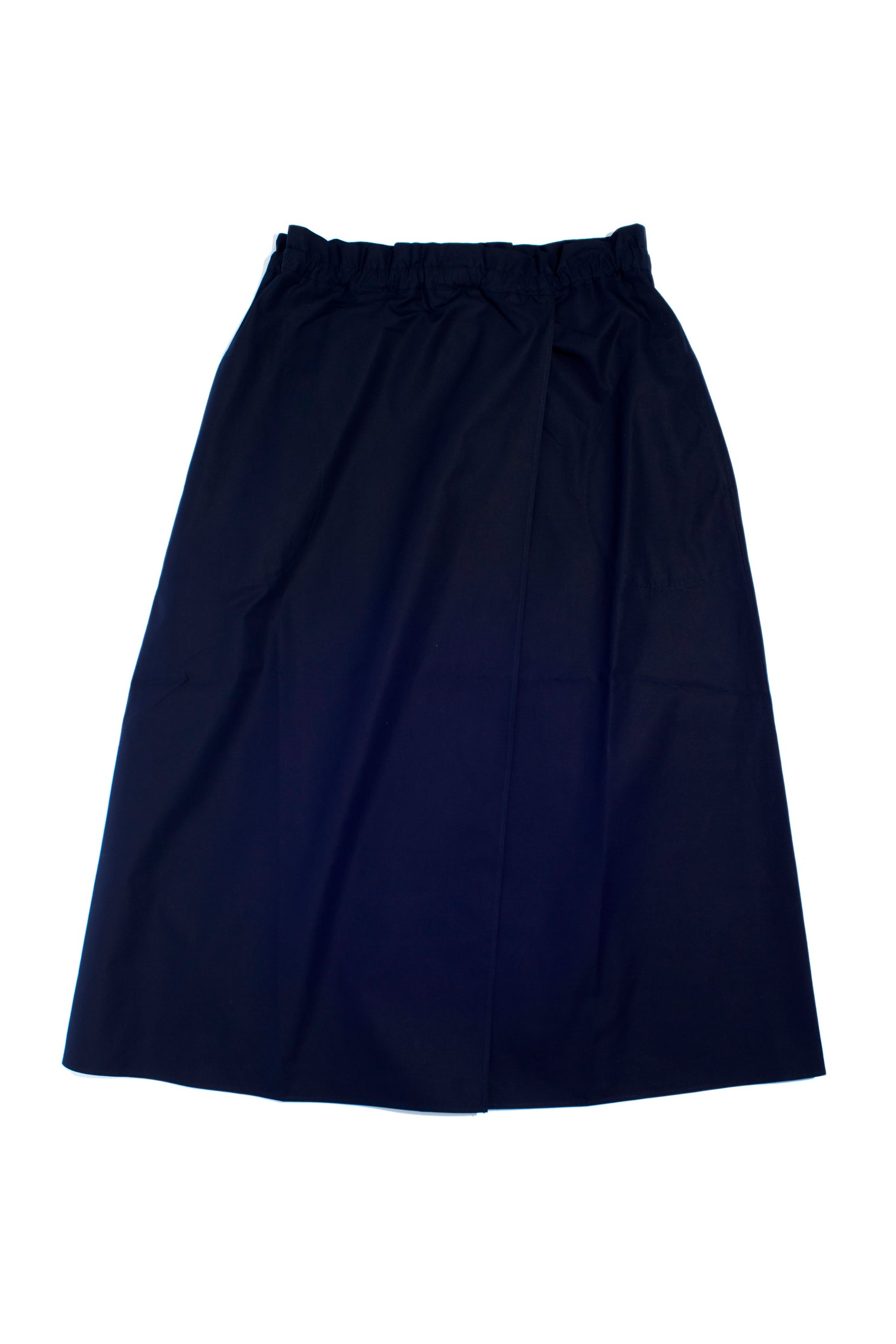 Cotton Wrap Skirt with Pockets