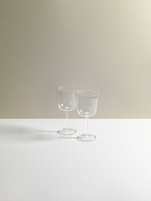 Tuccio Calica Clear Wine Glassware set of two