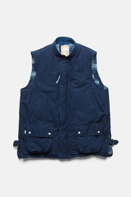 Jinba Vest in Authentic Indigo by Cottle