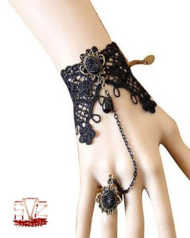 Vampire Finger rings with lace wristband.