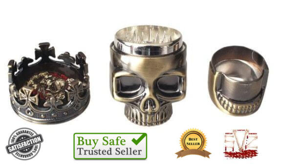 Almost FREE - Wonderful Skull Grinder & Pollen Catcher - 2 Colors