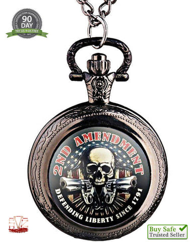 2A Skull pocket watch colored