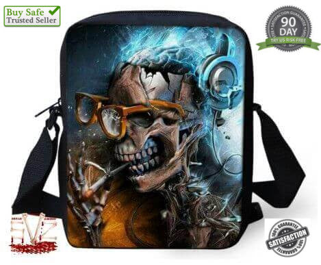 Fashion skull messenger bag - 12 patterns