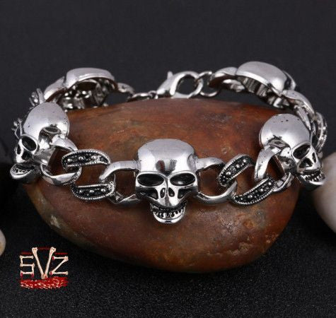 Almost FREE - Skull charm bracelet. 6 patterns.