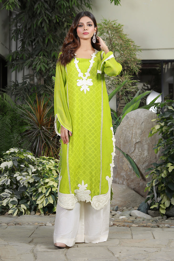 'Lime Green Long Kurta'