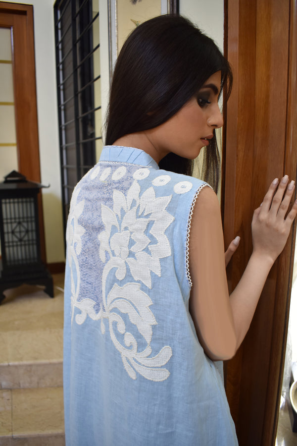 POWDER BLUE FLAIR KURTA