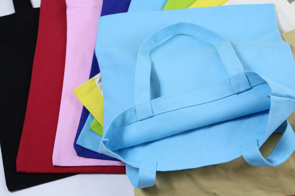 blue thick cotton canvas totes bag shopping bag