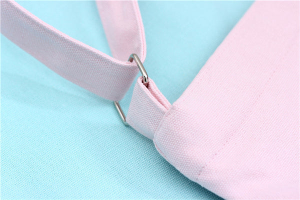 Single stripe adjustable buckle blank canvas pink shoulder bag