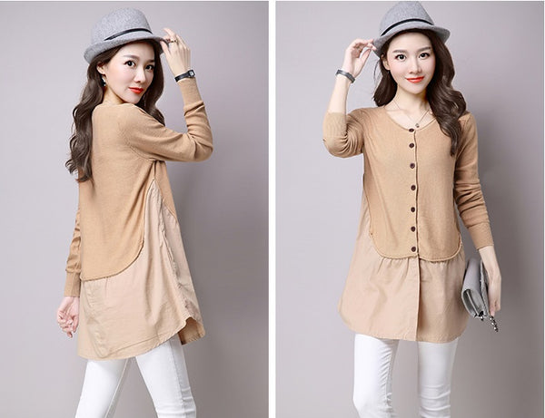 light tan wool knitwear cardigan