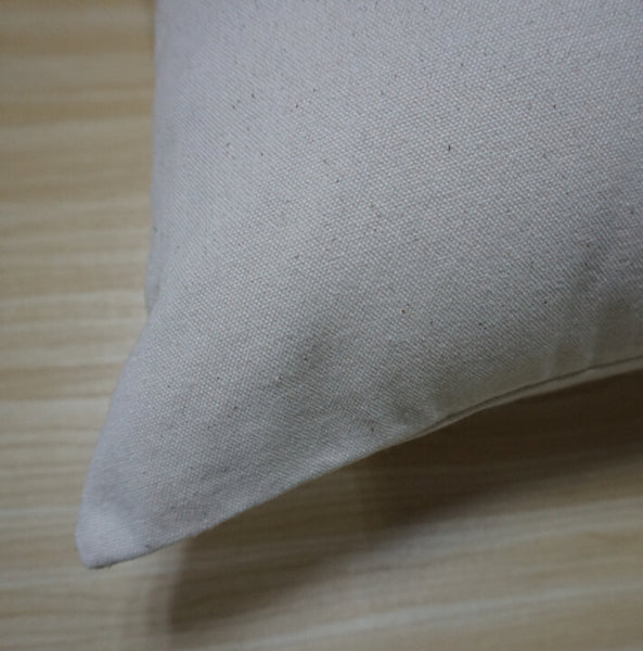Natural canvas pillow case blank cotton cushion cover