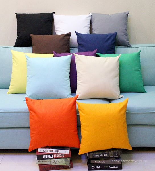 Plain dyed cotton canvas pillow & cushion cover