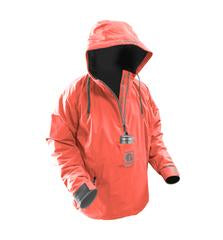 GW WOMEN'S WATERPROOF 1/2 ZIP BOG HOODIE - CORAL/GREY