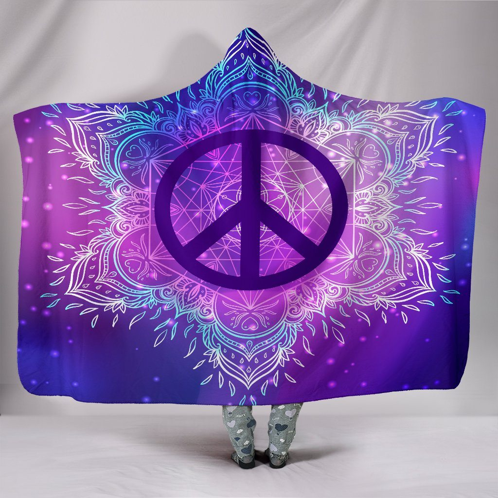 Peace Mandala Purple Blue