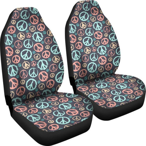 Peace Sign Pattern Seat Covers