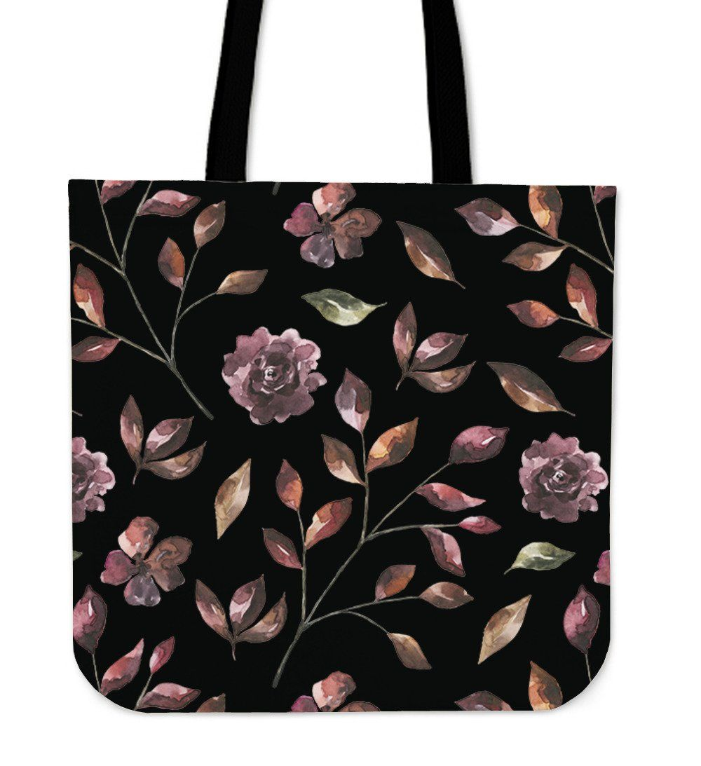 Flower Hand Painted Cloth Tote Bag