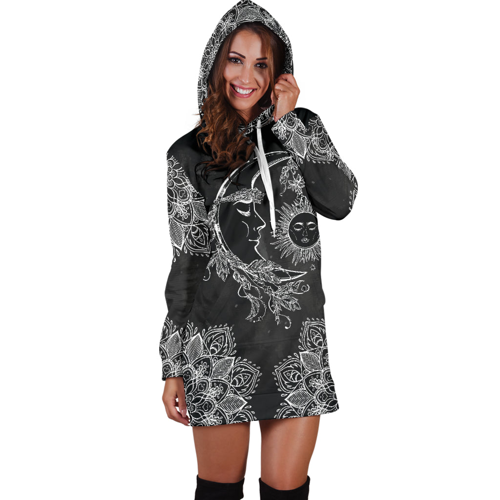 Sun & Moon 2 Hoodie Dress
