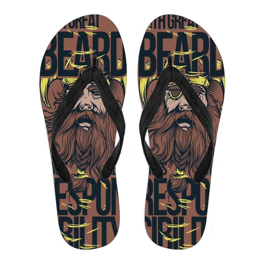 Great Beard Men's Flip Flops