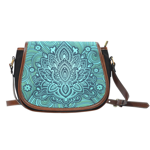 Lotus Ornament Saddle Bag