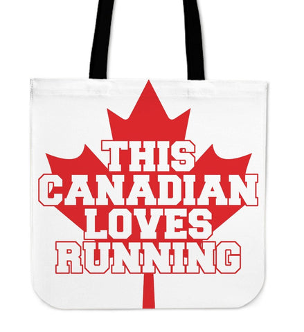 Running Canadian Cloth Tote Bag