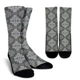 Seven Tribes Gray and Light Gray Crew Socks
