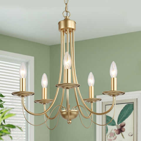 Transitional french country chandelier