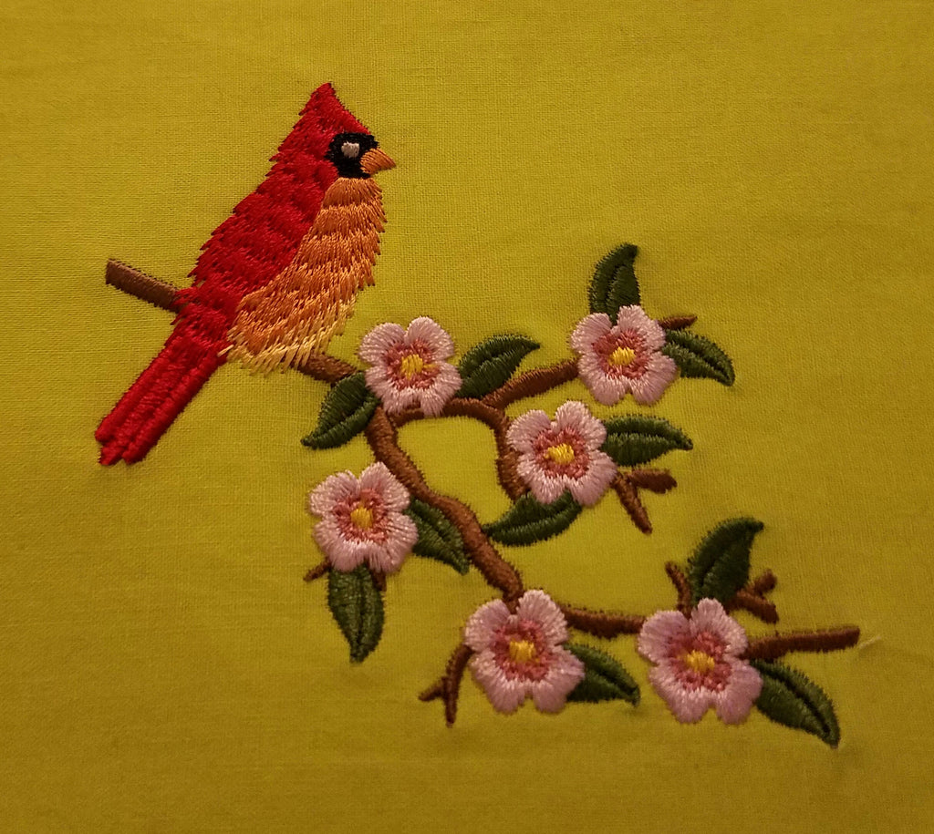 Cardinal on a Branch 4 x 4