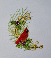 Christmas Holly Cardinal 5 x 7 Hoop