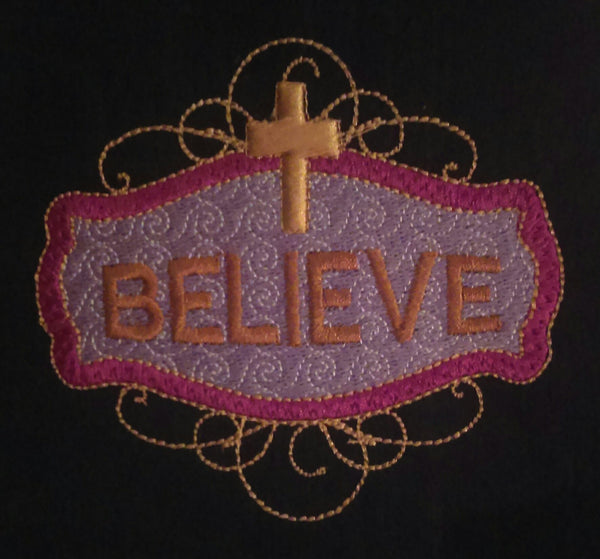 Believe Framed 4 x 4