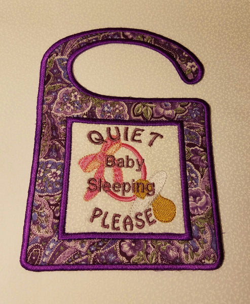 ITH Baby Quiet Please Door Hanger