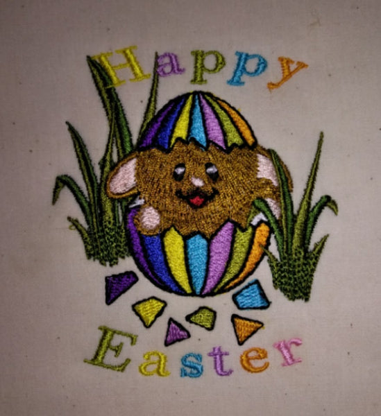 Easter Bunny Cracked Egg 5 x 5