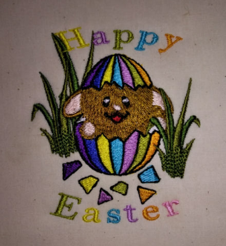 Easter Bunny Cracked Egg 4 x 4