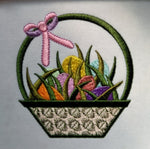 Easter Basket with Eggs 5 x 5