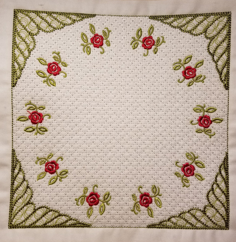Circular Rose Four SINGLE 6 X 6