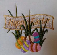 Happy Easter Banner with Eggs 4 x 4