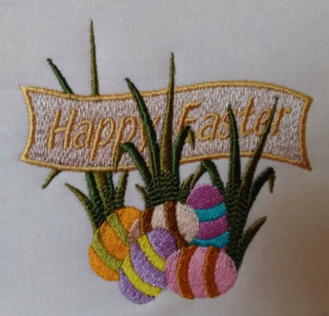 Happy Easter Banner with Eggs 5 x 5