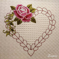 Heart Rose Design 8 x 8