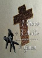 One Cross three nails four given Plain