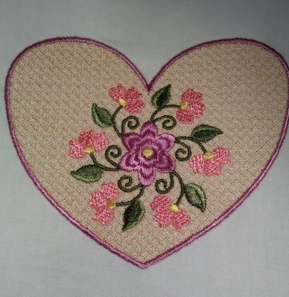 Flower with Motif Heart