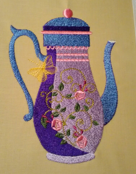 Purple Tea Pot