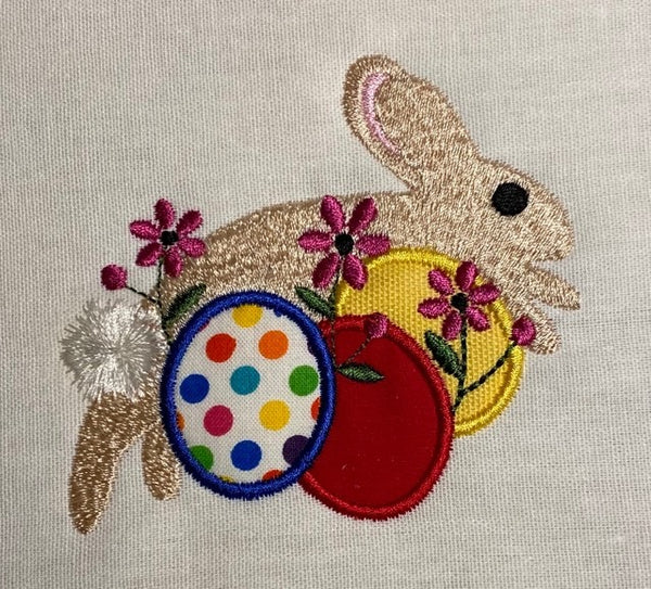 Easter Rabbit Partial Applique 4 x 4