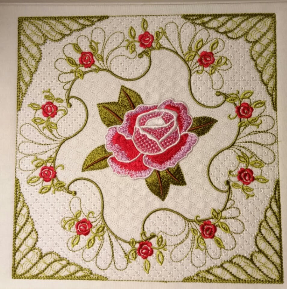 Circular Rose One SINGLE 6 x 6
